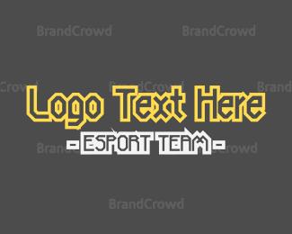 Esports - Esport Team Text logo design