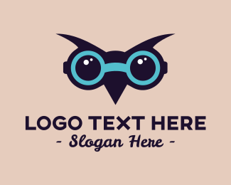 Children - Smart Owl Glasses logo design