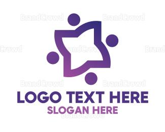 Diversity - Violet Star People logo design