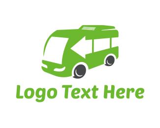 Caravan - Green Van logo design
