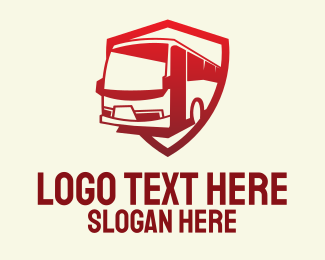 Sightseeing - Red Bus Transport logo design