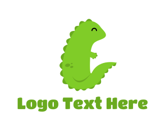Teddy - Green Dragon logo design