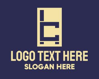 Seating - Modern Chair Letter C logo design