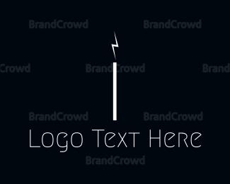 Thunderbolt - Electrical Letter I logo design