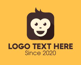 Monkey Face - Monkey Mobile App logo design