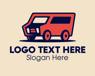 Delivery Service - Red Delivery Van logo design