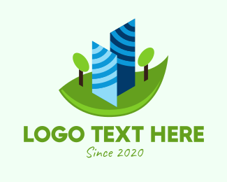 Office Building - 2D Abstract Buildings logo design