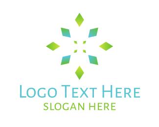 Kaleidoscope - Emerald Flower logo design