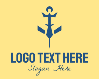 Oceanic - Anchor Fish logo design