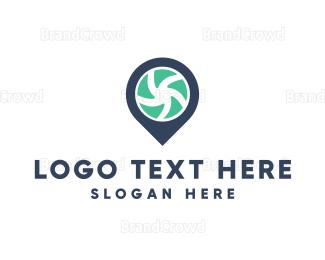 Map - Pin Camera logo design