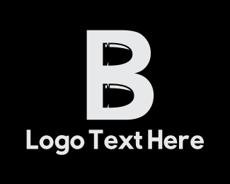 Bounty Hunter - Bullet Letter B logo design