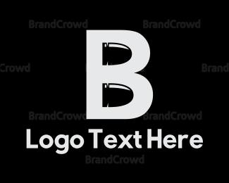 Bang - Bullet Letter B logo design