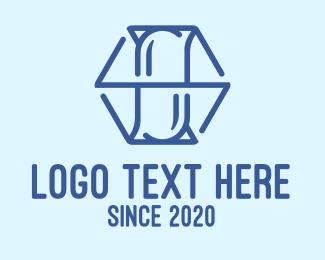 Caplet - Blue Hexagon Drugstore logo design