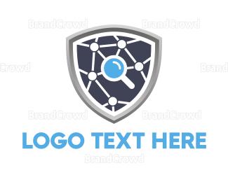 Search - Search Shield logo design