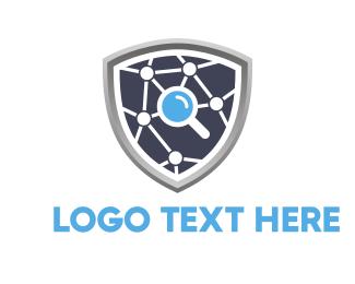 Recruiter - Search Shield logo design