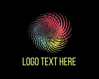 Colorful - Lion Hurricane logo design