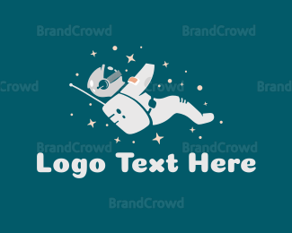 Spaceman - Constellation Astronaut logo design