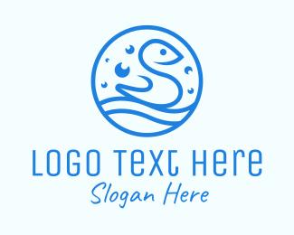 Bubbly - Blue Bubbly Bird logo design