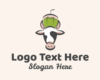 Cattle Farm - Cow Fresh Coconut  logo design