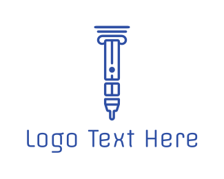 Nicotine - Greek Vape logo design