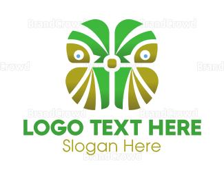 Irish - Abstract Green Owl logo design