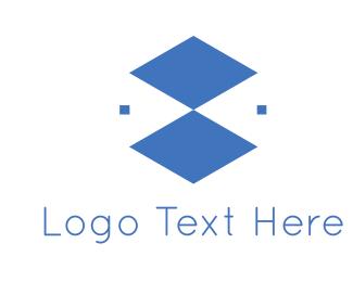 Blue Triangles  Logo