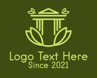 Entrance - Natural Classical Building logo design