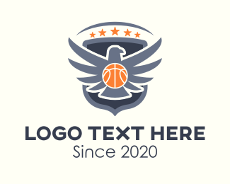Hoops - Eagle Basketball Team logo design