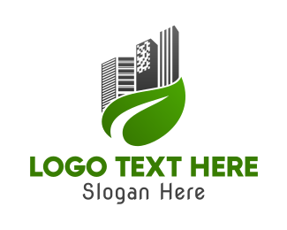 Buildings - Leaf City logo design