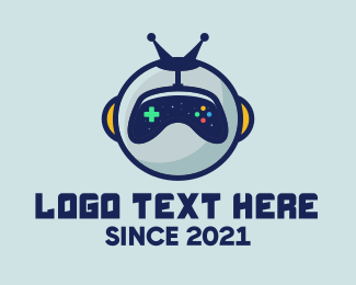 Space Suit - Gaming Robot Sphere  logo design