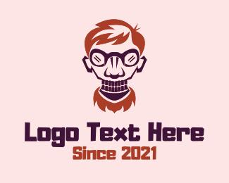 Scientist - Scary Geek Scientist logo design