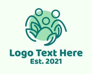 Vegan - Vegan Leaf People logo design