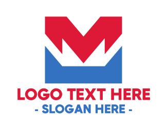 Owner - Red Blue M logo design