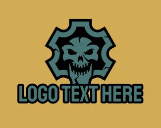 """Gear Skull Mascot"" by JimjemR"