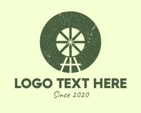 Handmade - Rustic Farm Ranch Windmill logo design