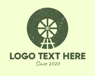 Farmland - Rustic Farm Windmill logo design