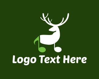 Moose - Musical Deer logo design
