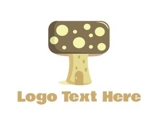 Mushroom - Mushroom House logo design