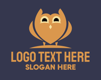 Wisdom - Simple Kiddie Owl logo design
