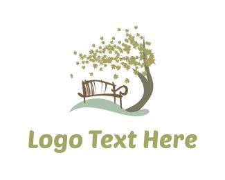Autumn - Park Bench logo design
