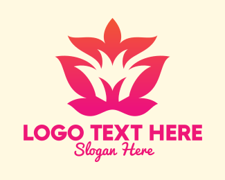 Flower Stall - Yoga Pose Letter M logo design