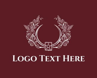 Vintage - Floral Emblem logo design
