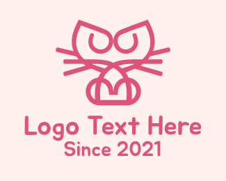 Kitten - Kitty Cat Kitten logo design
