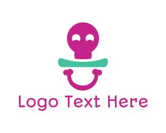 Orthopedic - Bone Pacifier logo design