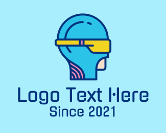 Virtual Reality - Virtual Reality Gaming Tech logo design
