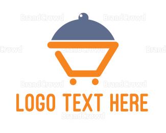 Cloche - Abstract Dinner Cart logo design