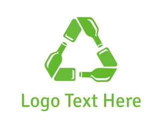 Save - Recycling Bottle logo design