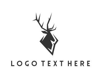 Monochrome - Black Elk logo design
