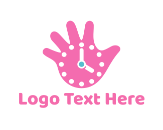 Clock - Hand Watch logo design