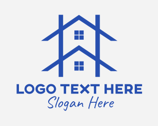 Roof - House Roofing Outline logo design